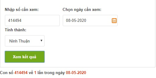 Dò vé số Ninh Thuận online trực tuyến