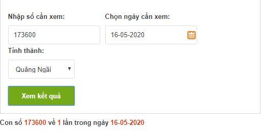 Dò vé số Quảng Ngãi online trực tuyến